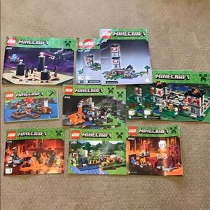 Lego Minecraft Instructions Booklets